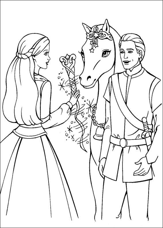 Barbie and The Magic Pegasus Kids Coloring Pages 1