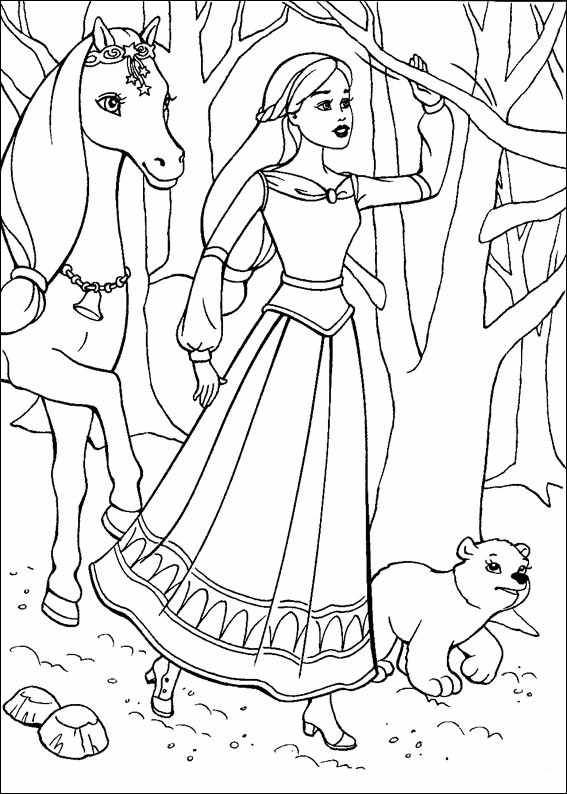 Barbie and The Magic Pegasus Kids Coloring Pages 5