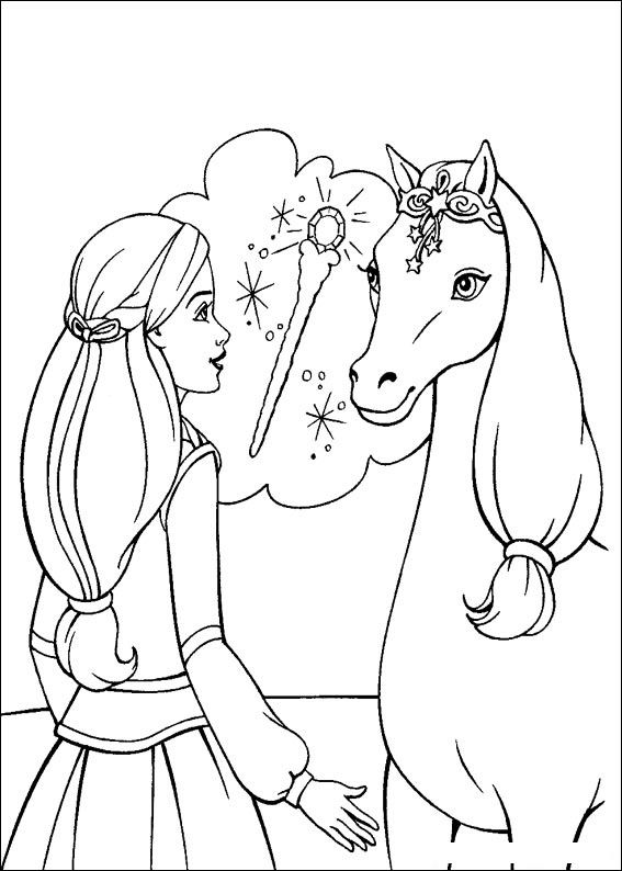 Barbie and The Magic Pegasus Kids Coloring Pages 6