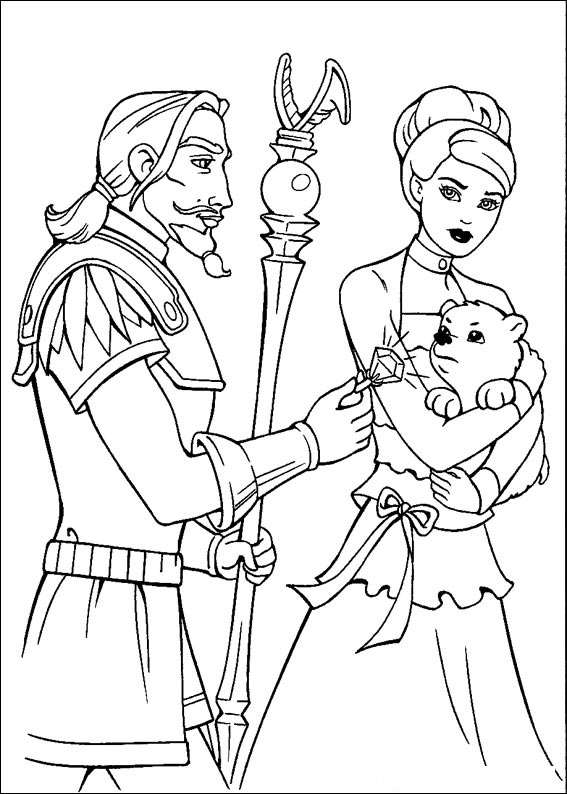 Barbie and The Magic Pegasus Kids Coloring Pages 9
