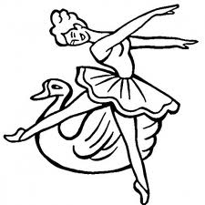 Barbie of Swan Lake Kids Coloring Pages 3