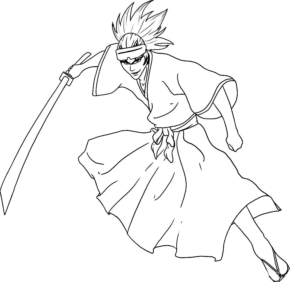 Bleach Kids Coloring Pages 7