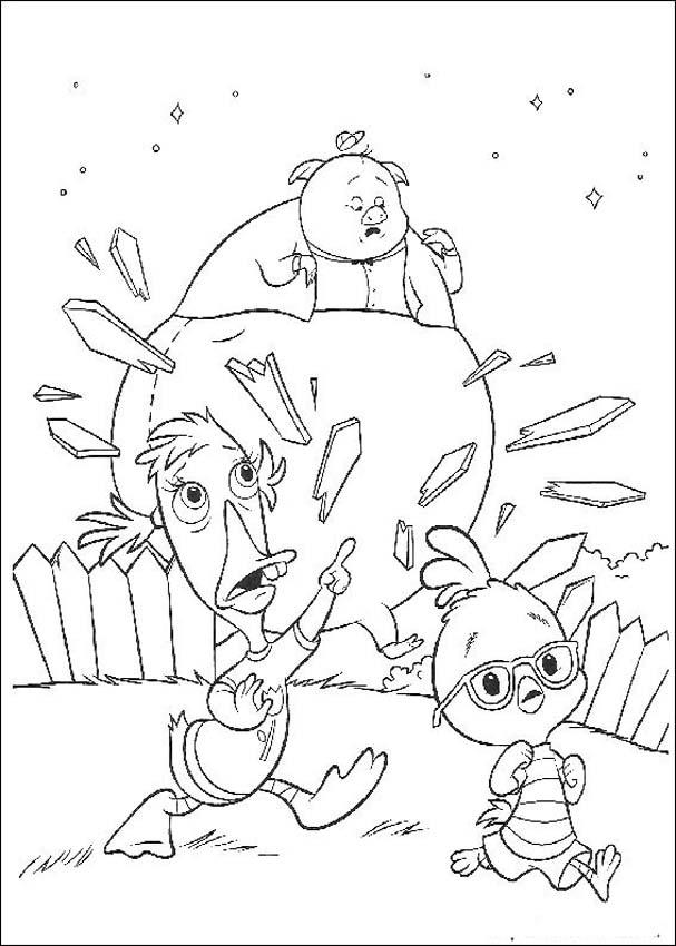 Chicken Little Kids Coloring Pages 1