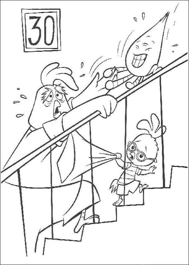 Chicken Little Kids Coloring Pages 3