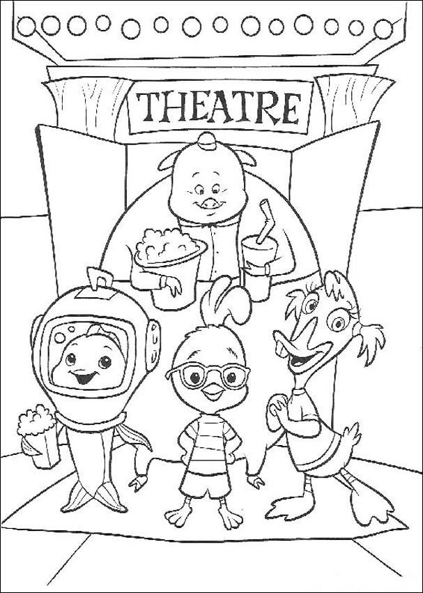 Chicken Little Kids Coloring Pages 4