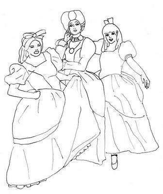 Cinderella 2 Kids Coloring Pages 5