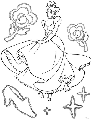 Cinderella 2 Kids Coloring Pages 8