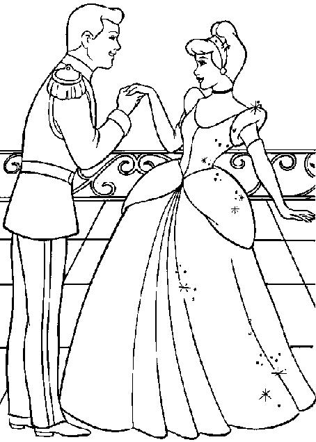 Cinderella 2 Kids Coloring Pages 9