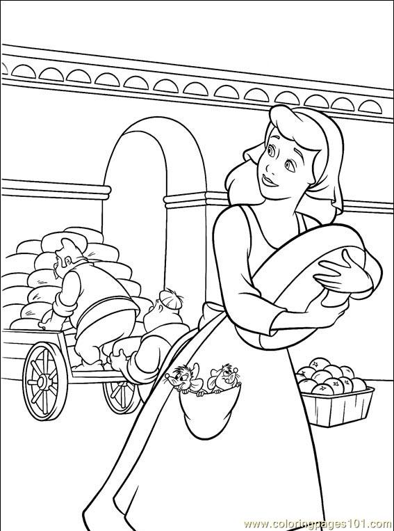 Cinderella 3 Kids Coloring Pages 1