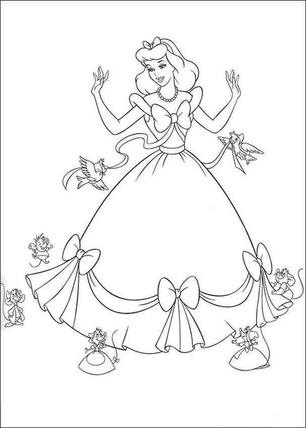 Cinderella 3 Kids Coloring Pages 3