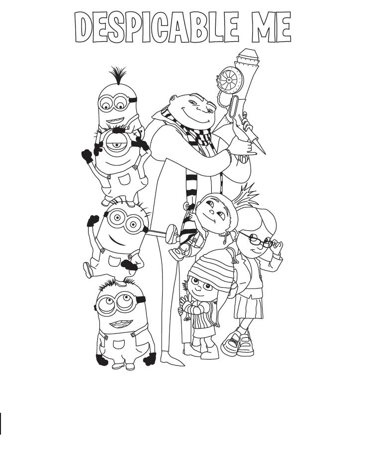 Despicable Me Kids Coloring Pages 6