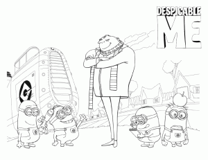 Despicable Me Kids Coloring Pages 7