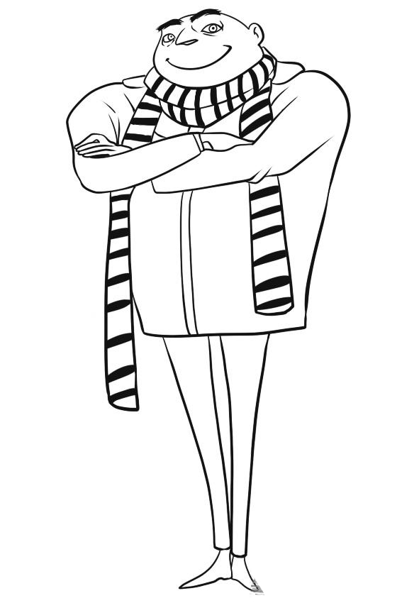 Despicable Me Kids Coloring Pages 8