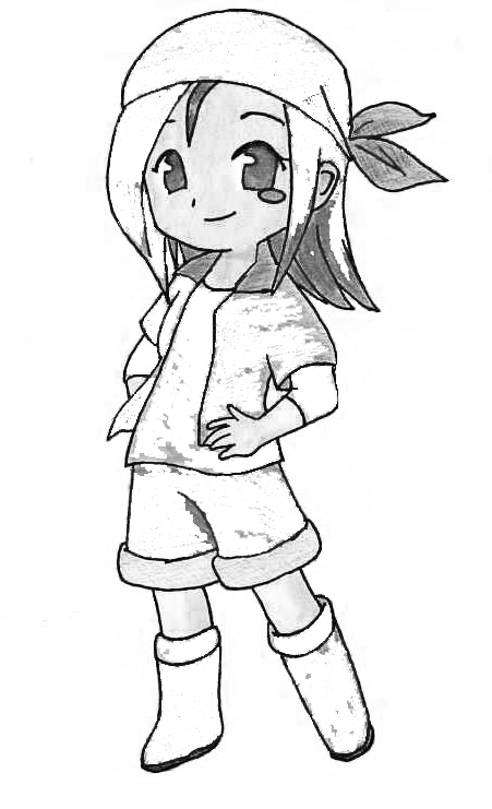 Harvest Moon Kids Coloring Pages 7