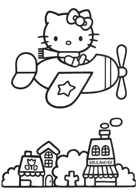 Hello Kitty Coloring Pages 9