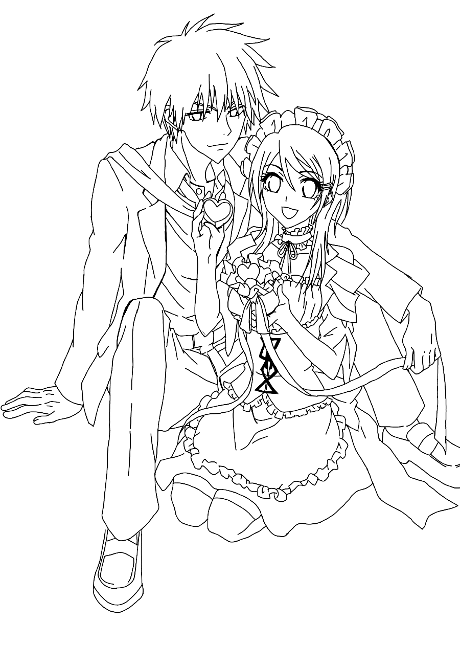 Maid Sama Kids Coloring Pages 7