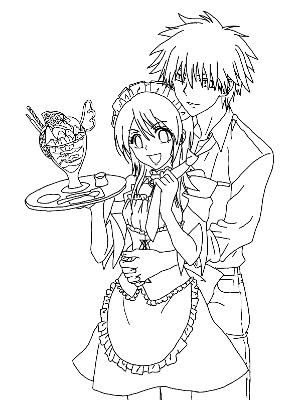 Maid Sama Kids Coloring Pages 8
