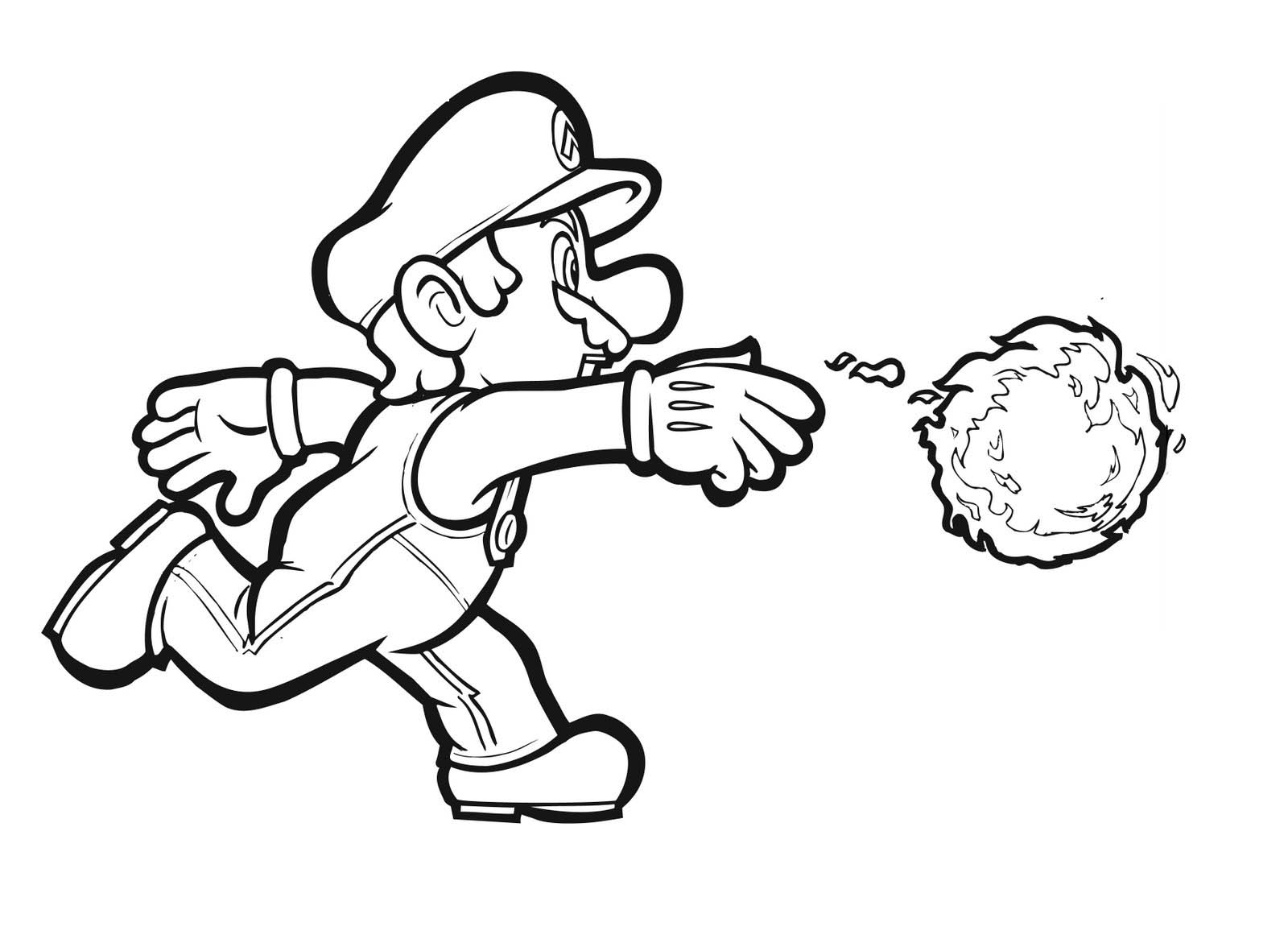 Mario coloring pictures to print