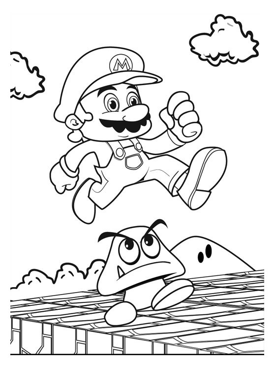 Mario Coloring Pages 8