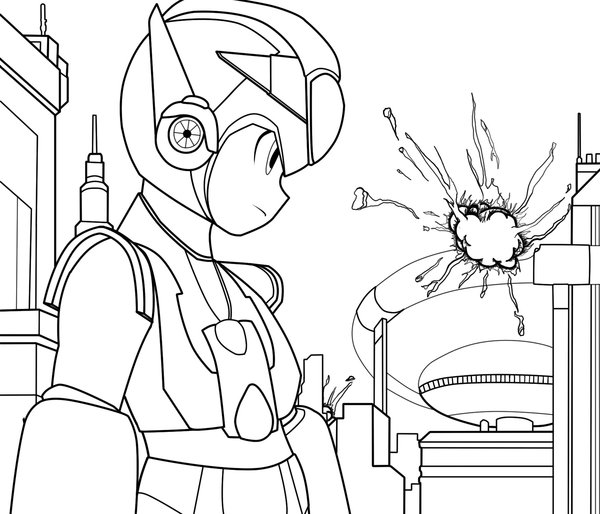Megaman ZX Kids Coloring Pages 2