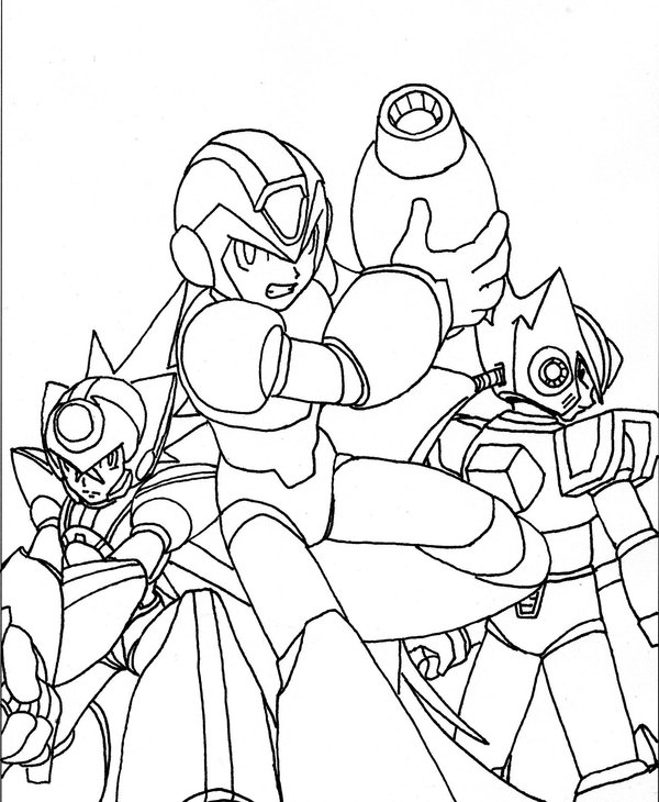 Megaman ZX Kids Coloring Pages 3