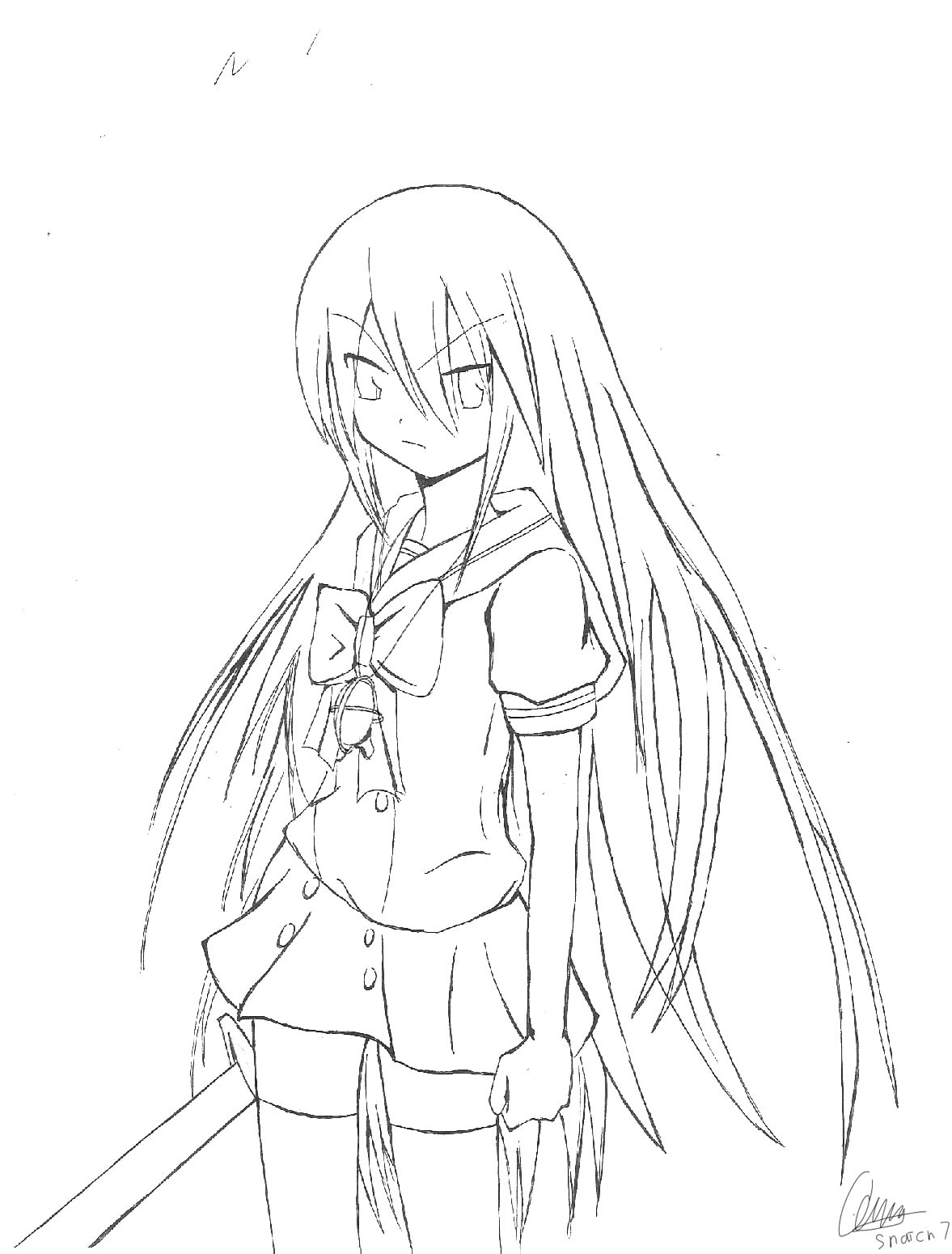 shakugan no shana ii kids coloring pages