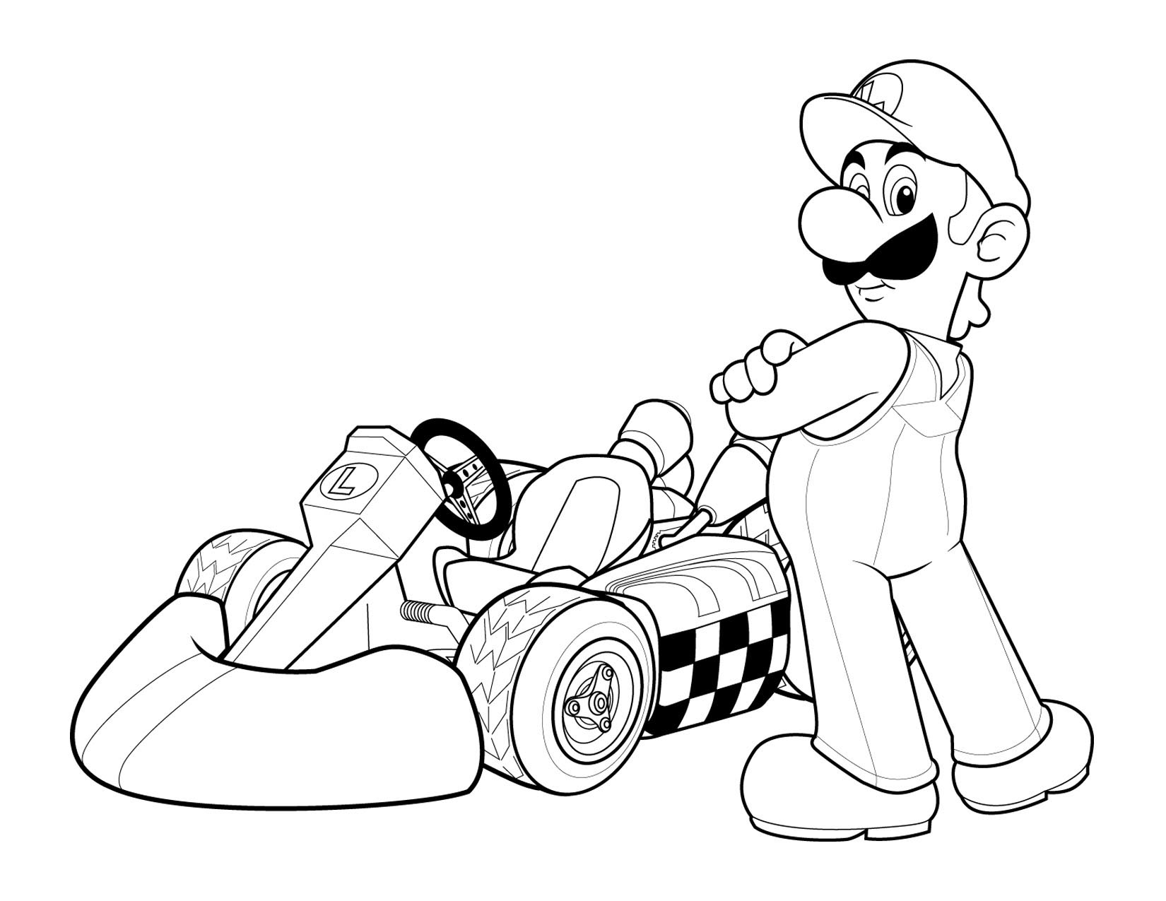 Super Mario Kids Coloring Pages 2
