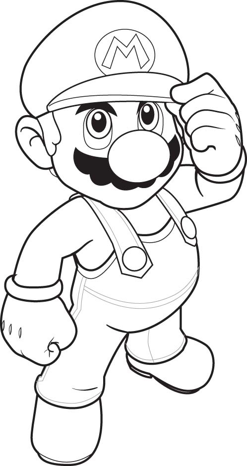 Super Mario Kids Coloring Pages 3