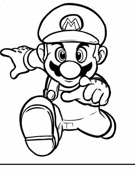 Super Mario Kids Coloring Pages 5