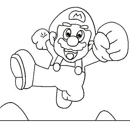 Super Mario Kids Coloring Pages 7