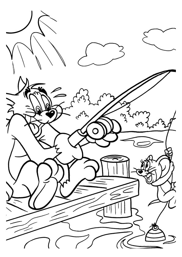 Tom and Jerry The Movie Kids Coloring Pages 1