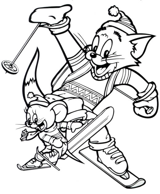 Tom and Jerry The Movie Kids Coloring Pages 4
