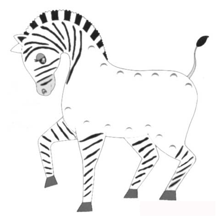 zebra coloring pages without stripes - photo #34